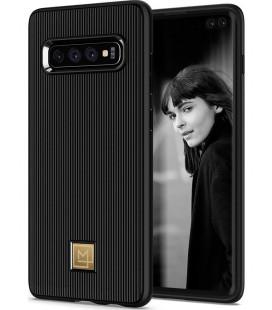 "Juodas dėklas Samsung Galaxy S10 Plus telefonui ""Spigen La Manon Classy"""