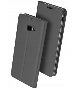 """Pilkas atverčiamas dėklas Samsung Galaxy J4 Plus 2018 telefonui """"Dux Ducis Skin"""""""