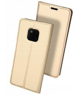 """Auksinės spalvos atverčiamas dėklas Huawei Mate 20 Pro telefonui """"Dux Ducis Skin"""""""