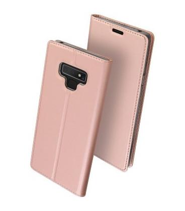 """Rausvai auksinės spalvos atverčiamas dėklas Samsung Galaxy Note 9 telefonui """"Dux Ducis Skin"""""""