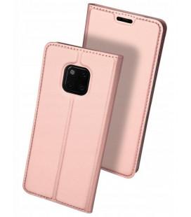 """Rausvai auksinės spalvos atverčiamas dėklas Huawei Mate 20 Pro telefonui """"Dux Ducis Skin"""""""