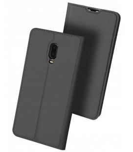 """Pilkas atverčiamas dėklas Oneplus 6T telefonui """"Dux Ducis Skin"""""""