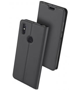 """Pilkas atverčiamas dėklas Xiaomi Mi Max 3 telefonui """"Dux Ducis Skin"""""""