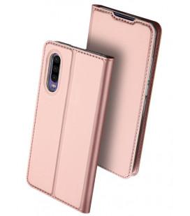 """Rausvai auksinės spalvos atverčiamas dėklas Huawei P30 telefonui """"Dux Ducis Skin"""""""