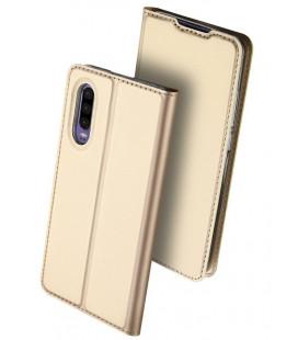 """Auksinės spalvos atverčiamas dėklas Huawei P30 telefonui """"Dux Ducis Skin"""""""