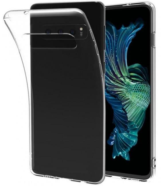 """Skaidrus silikoninis dėklas Samsung Galaxy S10 telefonui """"Clear"""""""