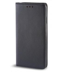 """Juodas atverčiamas dėklas Samsung Galaxy J4 Plus 2018 telefonui """"Smart Book Magnet"""""""