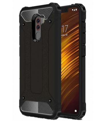 """Juodas dėklas Xiaomi Pocophone F1 telefonui """"Hybrid Armor Case"""""""