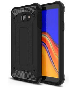 """Juodas dėklas Samsung Galaxy J4 Plus 2018 telefonui """"Hybrid Armor Case"""""""