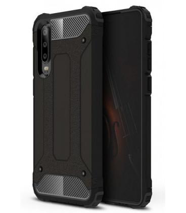 """Juodas dėklas Huawei P30 telefonui """"Hybrid Armor Case"""""""
