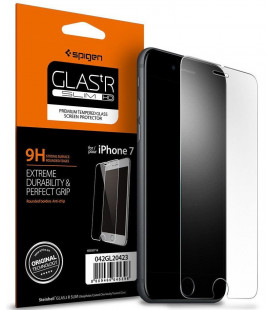 "Apsauginis grūdintas stiklas Apple iPhone 7/8 telefonui ""Spigen Glas.TR Slim HD"""