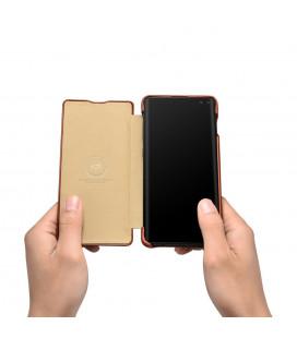 """Auksinės spalvos atverčiamas dėklas Xiaomi Mi5 telefonui """"Smart Book Magnet"""""""