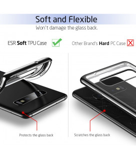 "Pilkas silikoninis dėklas Samsung Galaxy A6 Plus 2018 telefonui ""Mercury Soft Feeling"""