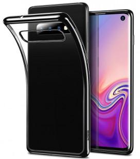 """Juodas silikoninis dėklas Samsung Galaxy A6 Plus 2018 telefonui """"Mercury Soft Feeling"""""""