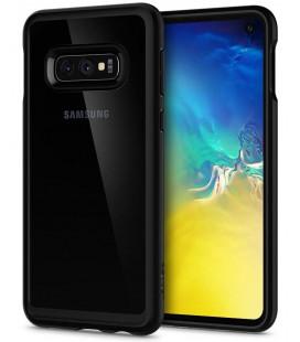 "Matinis juodas dėklas Samsung Galaxy S10E telefonui ""Spigen Ultra Hybrid"""