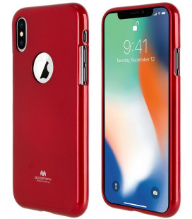 "Raudonas silikoninis dėklas Apple iPhone X telefonui ""Mercury Goospery Pearl Jelly Case"""