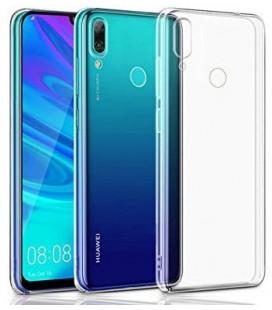 Skaidrus plonas 0,3mm silikoninis dėklas Huawei P Smart 2019 telefonui