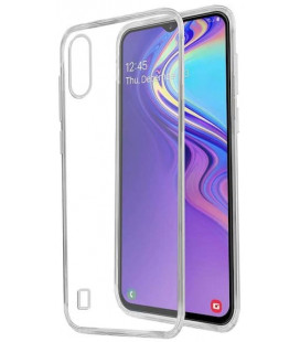Skaidrus plonas 0,3mm silikoninis dėklas Samsung Galaxy M10 telefonui