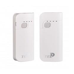 """Balta išorinė baterija 6000mAh PowerBank """"Tel1"""""""