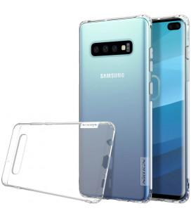 """Skaidrus silikoninis dėklas Samsung Galaxy S10 Plus telefonui """"Nillkin Nature"""""""