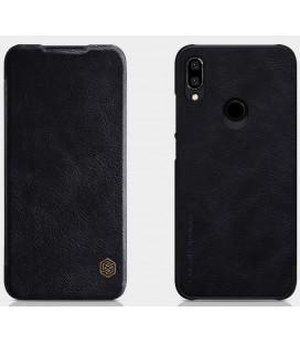 """Odinis juodas atverčiamas dėklas Xiaomi Redmi Note 7 telefonui """"Nillkin Qin"""""""