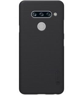 "Juodas dėklas LG V40 ThinQ telefonui ""Nillkin Frosted Shield"""