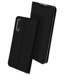 """Juodas atverčiamas dėklas Samsung Galaxy A50 telefonui """"Dux Ducis Skin"""""""