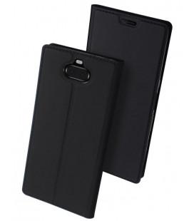 """Juodas atverčiamas dėklas Sony Xperia 10 telefonui """"Dux Ducis Skin"""""""
