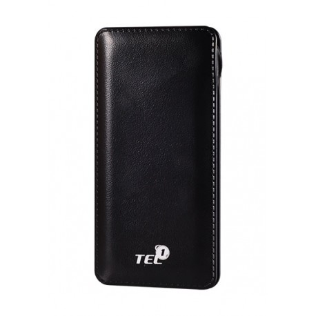 """juoda išorinė baterija 12000mAh PowerBank """"Tel1"""" - Atsarginis maitinimo šaltinis."""