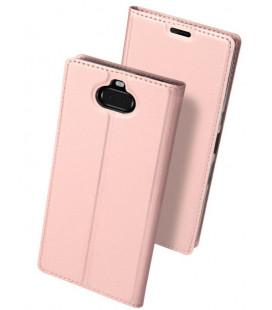 """Rausvai auksinės spalvos atverčiamas dėklas Sony Xperia 10 telefonui """"Dux Ducis Skin"""""""