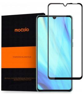 """5D Lenktas juodas apsauginis grūdintas stiklas Xiaomi Pocophone F1 telefonui """"Full Glue"""""""