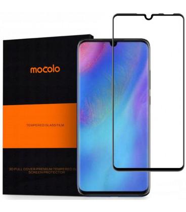 """Juodas apsauginis grūdintas stiklas Huawei P30 telefonui """"Mocolo"""""""