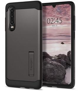 """Pilkas dėklas Huawei P30 telefonui """"Spigen Slim Armor"""""""