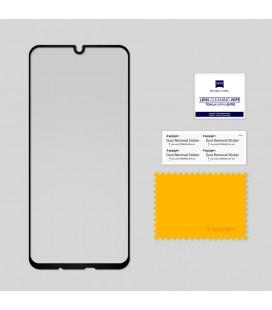 """5D Lenktas juodas apsauginis grūdintas stiklas Samsung Galaxy A8 2018 telefonui """"Full Glue"""""""