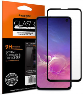 "Apsauginis grūdintas stiklas Samsung Galaxy S10E telefonui ""Spigen Glas.TR Slim"""