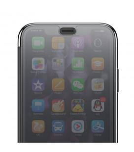 """5D Lenktas juodas apsauginis grūdintas stiklas Samsung Galaxy J4 Plus 2018 telefonui """"Full Glue"""""""