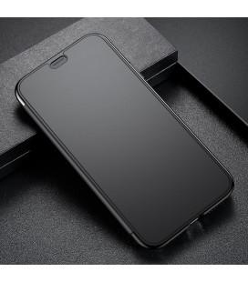 """5D Lenktas juodas apsauginis grūdintas stiklas Samsung Galaxy J6 Plus 2018 telefonui """"Full Glue"""""""