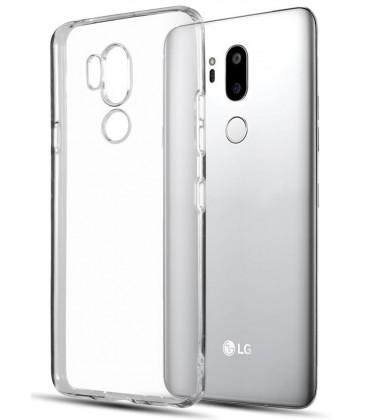 Skaidrus plonas 0,3mm silikoninis dėklas LG G7 ThinQ telefonui