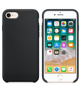 "Juodas silikoninis dėklas Apple iPhone 7/8 telefonui ""Silicone Case"""