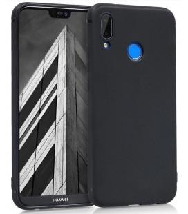 """Juodas silikoninis dėklas Huawei P20 Lite telefonui """"Silicone Case"""""""