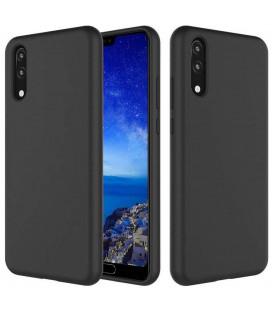 """Juodas silikoninis dėklas Huawei P20 telefonui """"Silicone Case"""""""