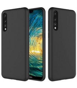 """Juodas silikoninis dėklas Huawei P20 Pro telefonui """"Silicone Case"""""""