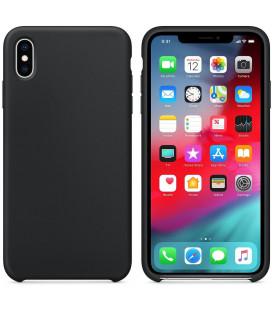 """Juodas silikoninis dėklas Apple iPhone XS Max telefonui """"Silicone Case"""""""