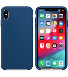 """Tamsiai mėlynas silikoninis dėklas Apple iPhone XS Max telefonui """"Silicone Case"""""""