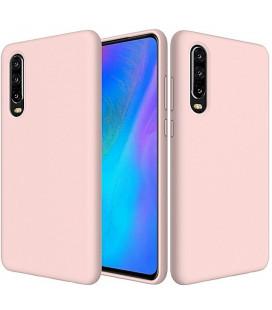 """Rožinis silikoninis dėklas Huawei P30 telefonui """"Silicone Case"""""""