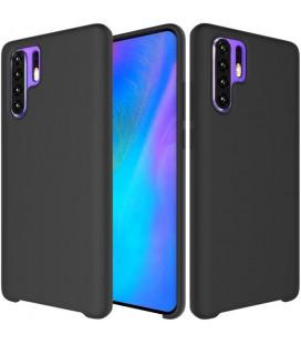 """Juodas silikoninis dėklas Huawei P30 Pro telefonui """"Silicone Case"""""""