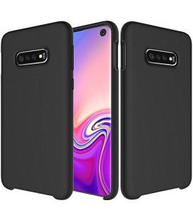 """Juodas silikoninis dėklas Samsung Galaxy S10e telefonui """"Silicone Case"""""""