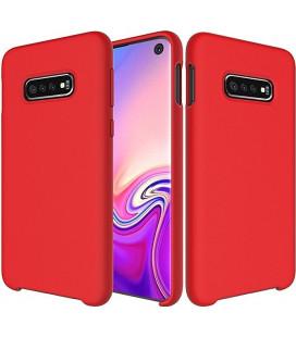 """Raudonas silikoninis dėklas Samsung Galaxy S10e telefonui """"Silicone Case"""""""