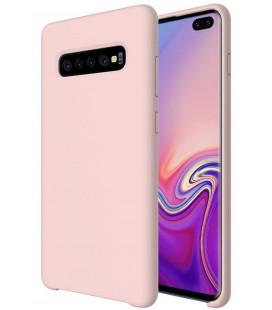 """Rožinis silikoninis dėklas Samsung Galaxy S10 Plus telefonui """"Silicone Case"""""""