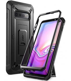 """Juodas dėklas Samsung Galaxy S10 Plus telefonui """"Supcase Unicorn Beetle Pro"""""""